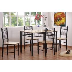 Ensemble table de cuisine et 4 chaises LONGWY