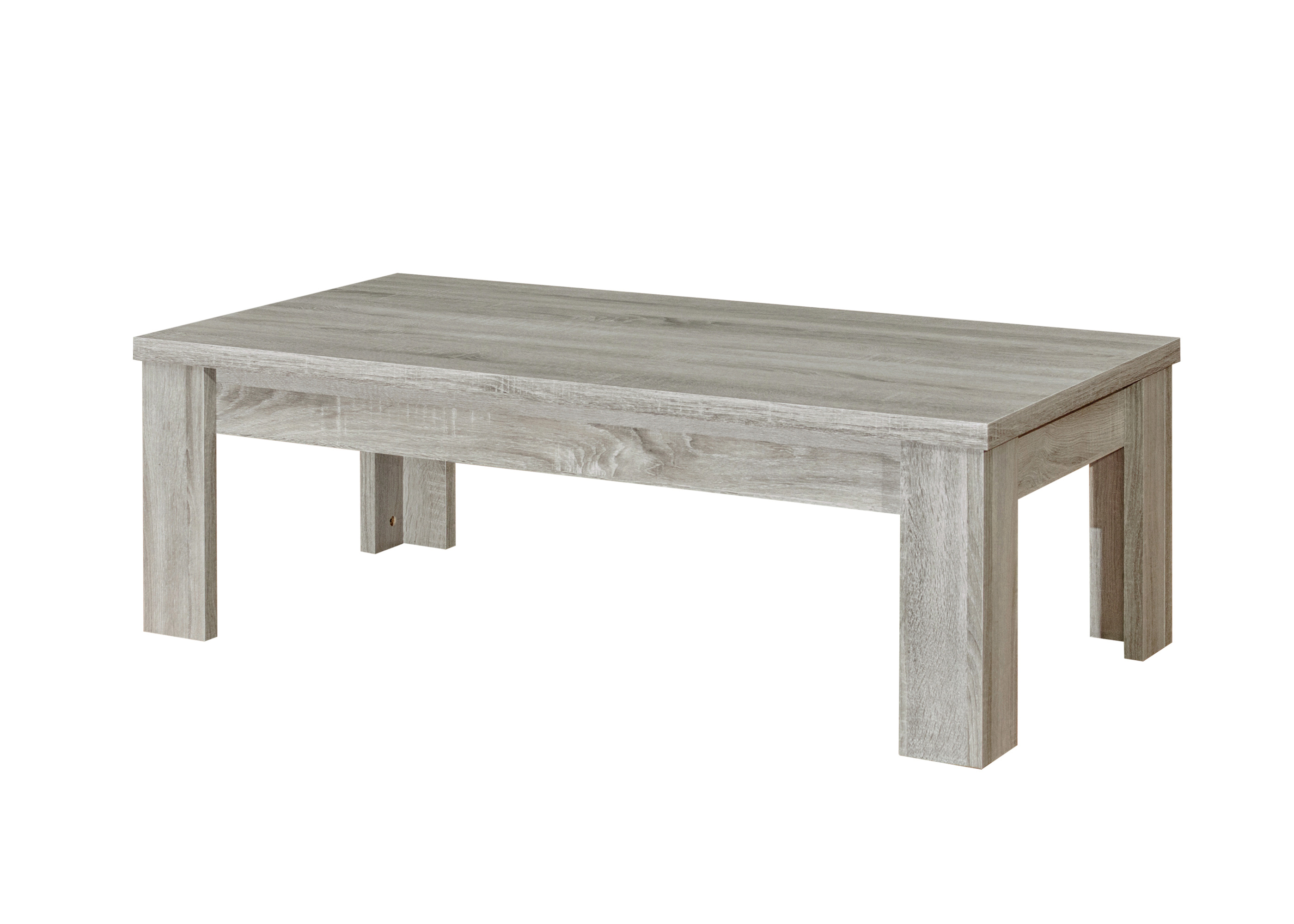 Table basse contemporaine coloris chêne gris Vigo