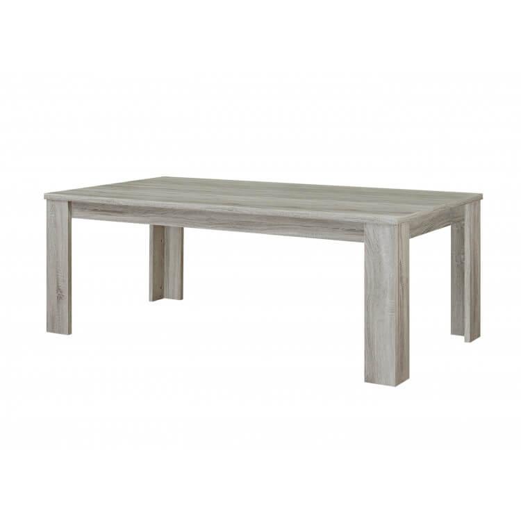 Table de salle à manger contemporaine coloris chêne gris Vigo