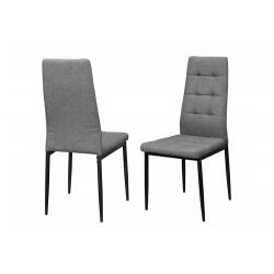 Chaise de salle à manger design en tissu gris (lot de 6) Sahara