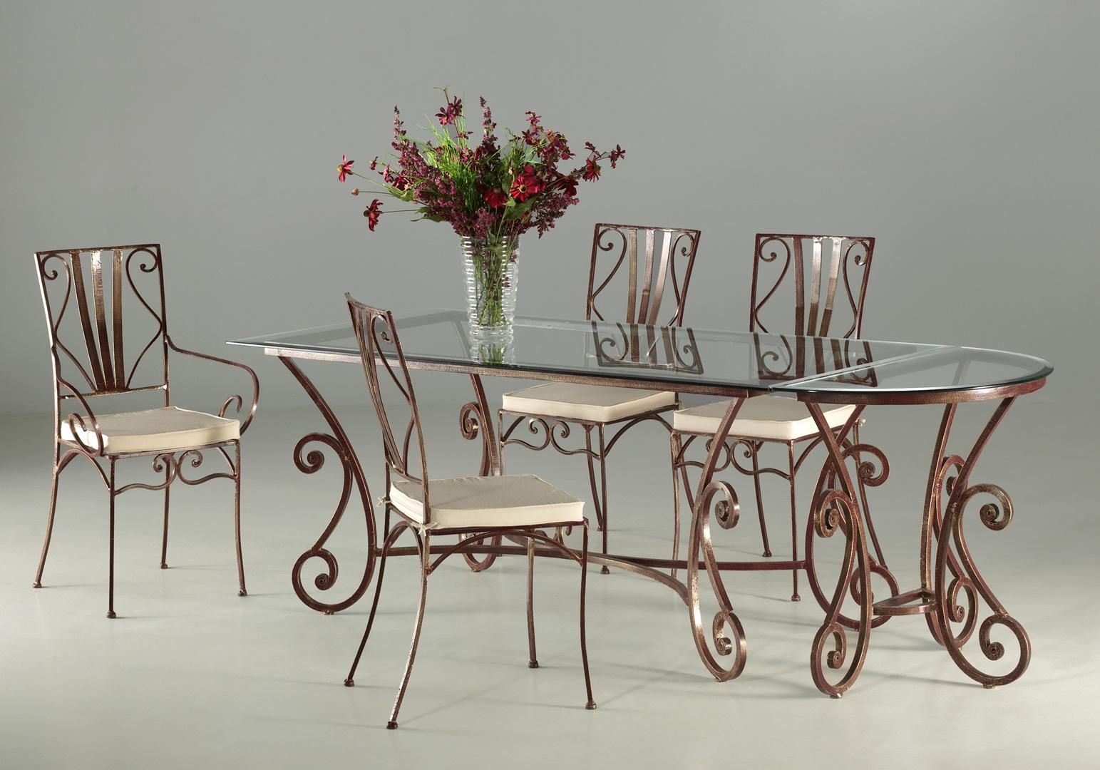 Ensemble table de salle à manger & 4 chaises ROMANCE
