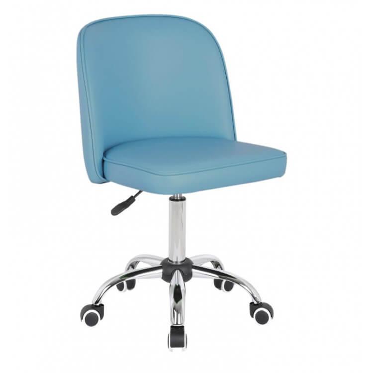 Chaise De Bureau Enfant Design En Pu Bleu Clair Augustine Matelpro