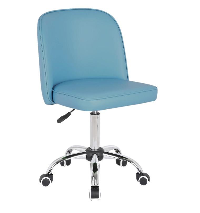 Chaise de bureau enfant design en PU bleu clair Augustine