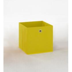 Panier de rangement en tissu jaune Gama II
