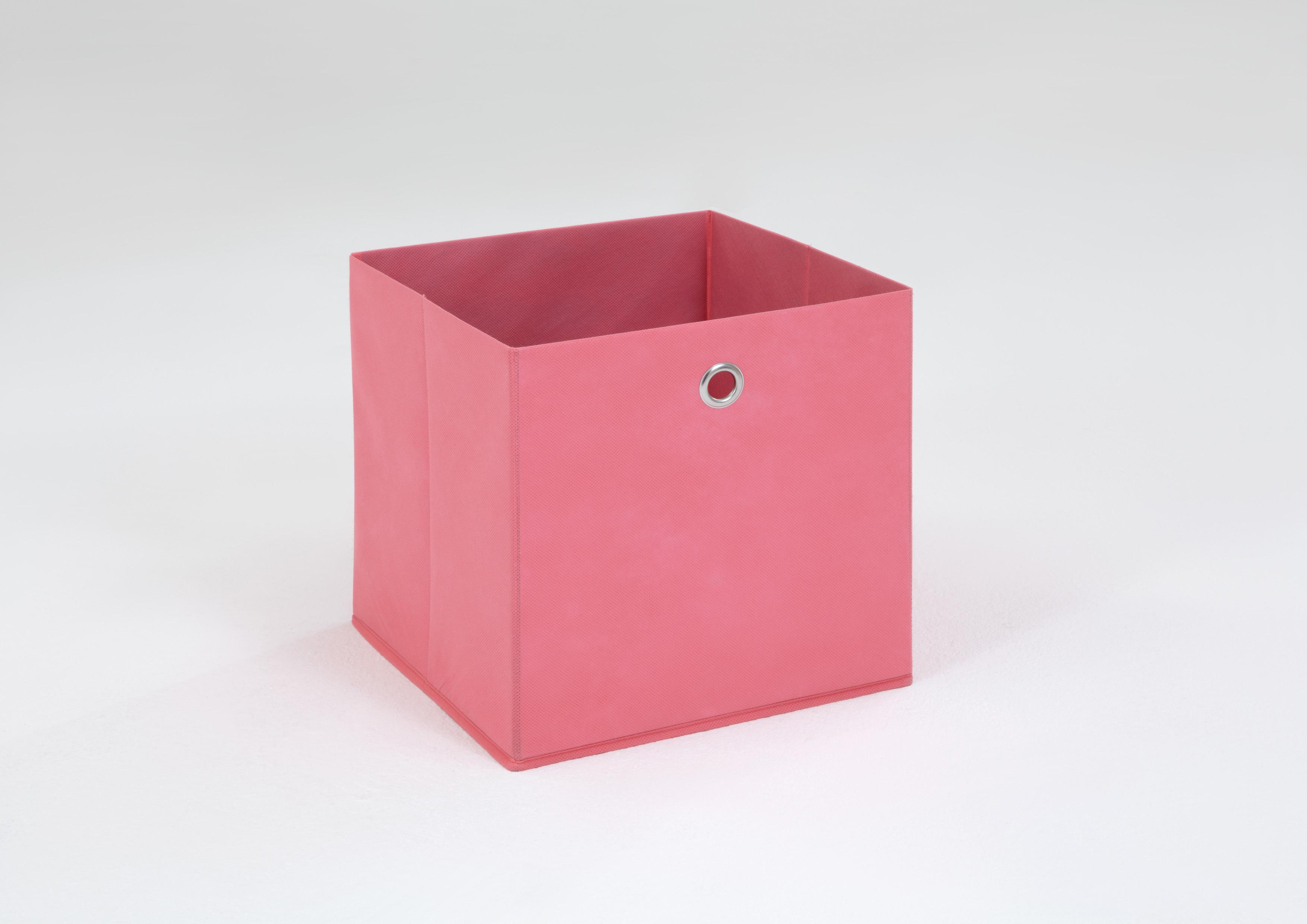 Panier de rangement en tissu rose Gama II
