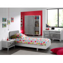 Chambre enfant contemporaine coloris blanc/gris Betty