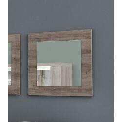 Miroir de salle à manger carré coloris chêne Saphir