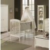 Lit bébé à barreaux contemporain coloris crème Eden