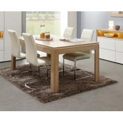 Table de salle à manger contemporaine extensible chêne canberra Lazare
