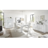 Buffet/bahut design 3 portes blanc laqué brillant sérigraphié Orlane