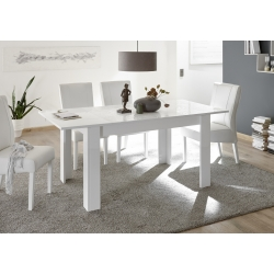 Allonge de table 48 cm blanc laqué brillant Stéphane