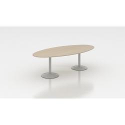 Table de réunion ovale 200 cm acacia clair Erika