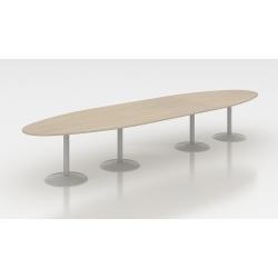 Table de réunion ovale 450 cm acacia clair Erika