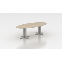 Table de réunion ovale 200 cm acacia clair Erika I