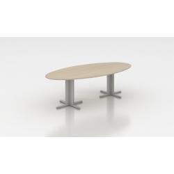 Table de réunion ovale 250 cm acacia clair Erika I