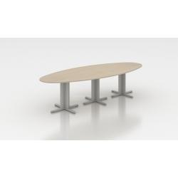 Table de réunion ovale 300 cm acacia clair Erika I