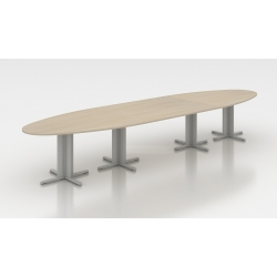 Table de réunion ovale 450 cm acacia clair Erika I