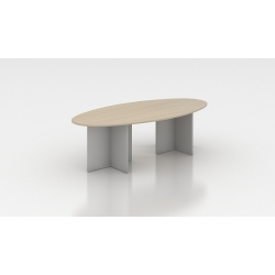 Table de réunion ovale 200 cm acacia clair Erika II