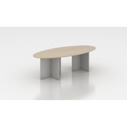 Table de réunion ovale acacia clair Erika II