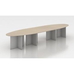 Table de réunion ovale 450 cm acacia clair Erika II
