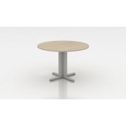 Table de réunion ronde acacia clair Erika I
