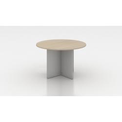 Table de réunion ronde acacia clair Erika II