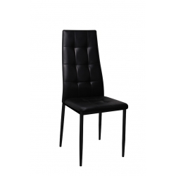 Chaise de salle à manger design en PU noir (lot de 4) Johanna