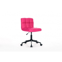 Chaise de bureau enfant design en PU fuchsia Royal II