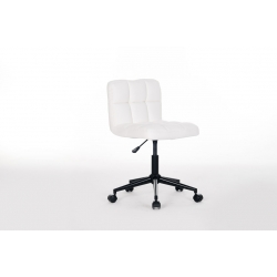 Chaise de bureau enfant design en PU blanc Royal II