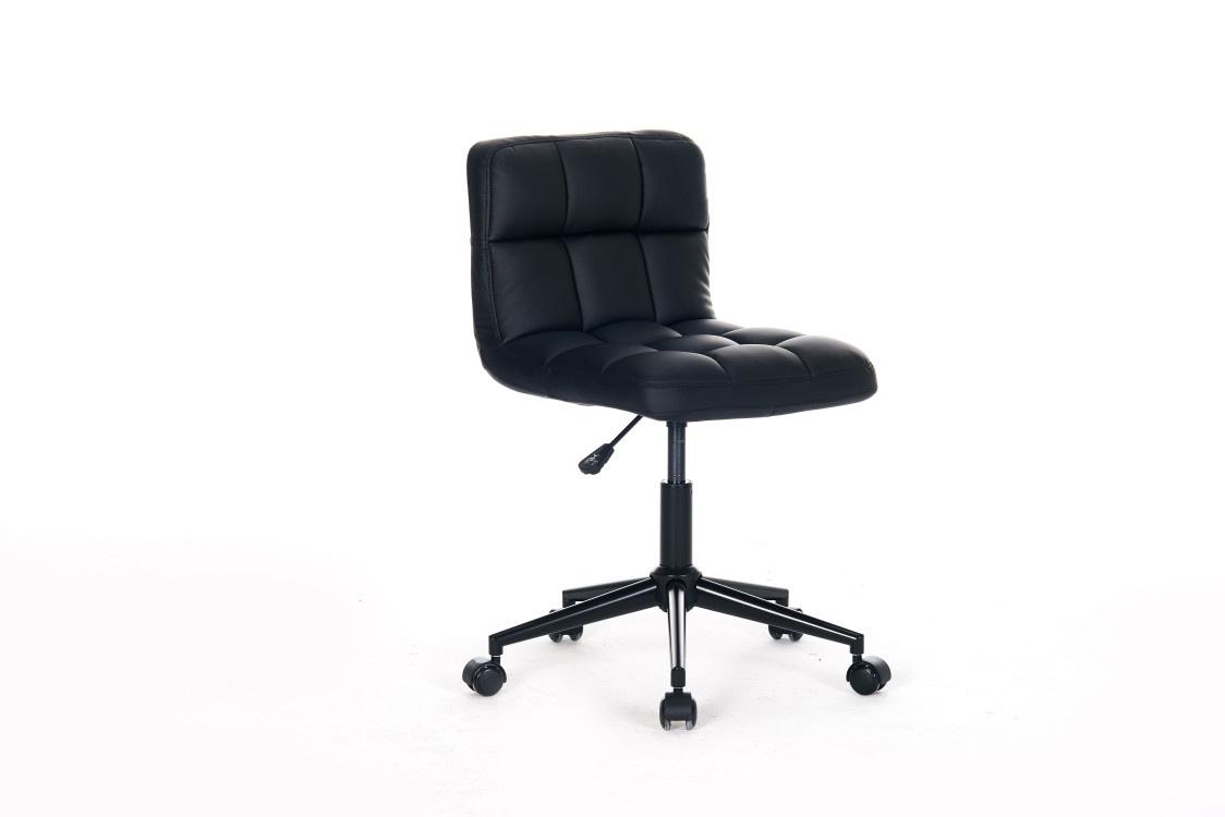 Chaise de bureau enfant design en pu noir royal matelpro