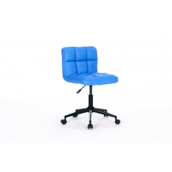 Chaise de bureau enfant design en PU bleu Royal II