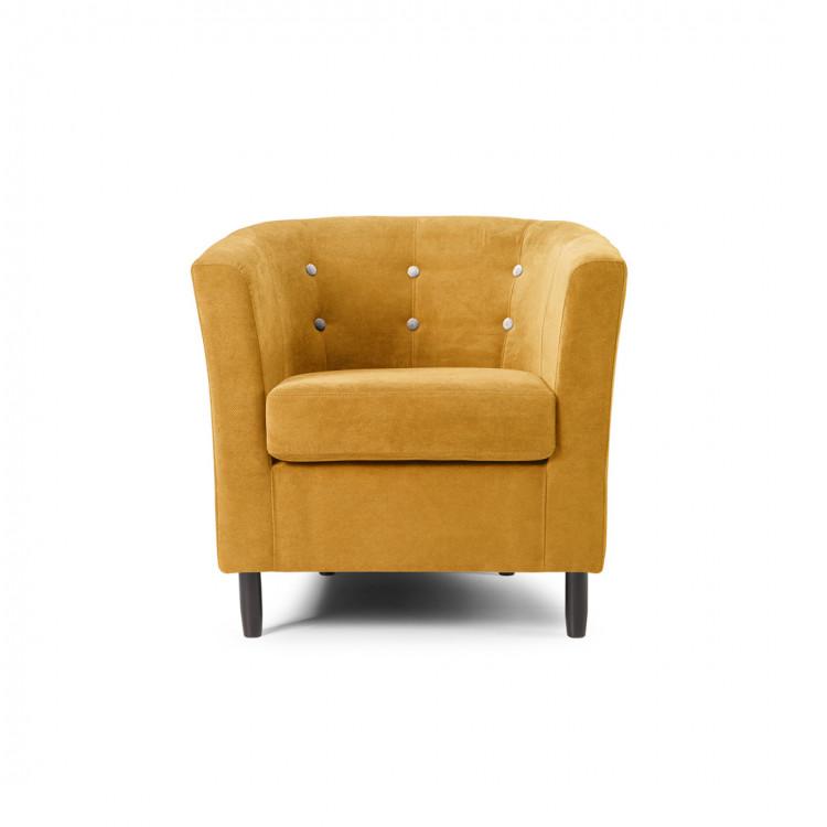 Fauteuil cabriolet contemporain en tissu jaune Jerrico
