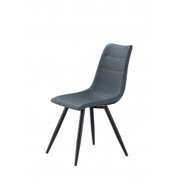 Chaise de salle à manger design en PU gris (lot de 4) Noria
