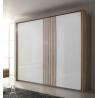Armoire portes coulissantes 226 cm chêne sanremo/blanc Mirsa