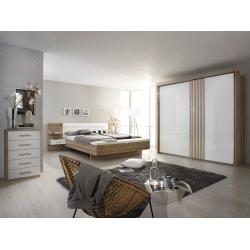 Chambre adulte design chêne sanremo/blanc Mirsa