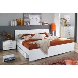 Tiroir-lit contemporain coloris blanc Laurana