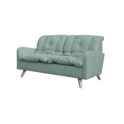 Canapé fixe contemporain 2 places en tissu vert clair Carole