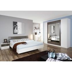 Chambre adulte contemporaine blanc/gris Mendosa