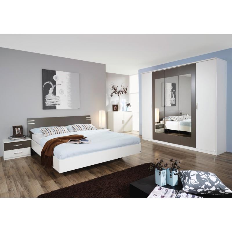 Chambre adulte contemporaine blanc gris mendosa matelpro - Chambre contemporaine adulte ...