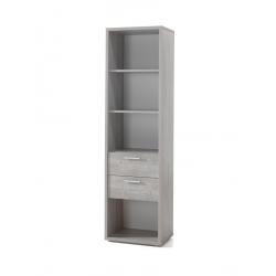 Bibliothèque contemporaine chêne grisé Victoria