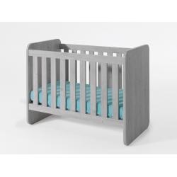 Lit bébé évolutif contemporain chêne grisé Victoria