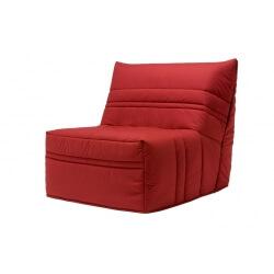 Banquette BZ contemporaine 90 cm coloris rouge Vista