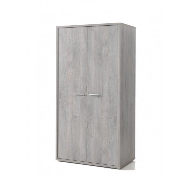 Armoire enfant contemporaine 102 cm chêne grisé Victoria