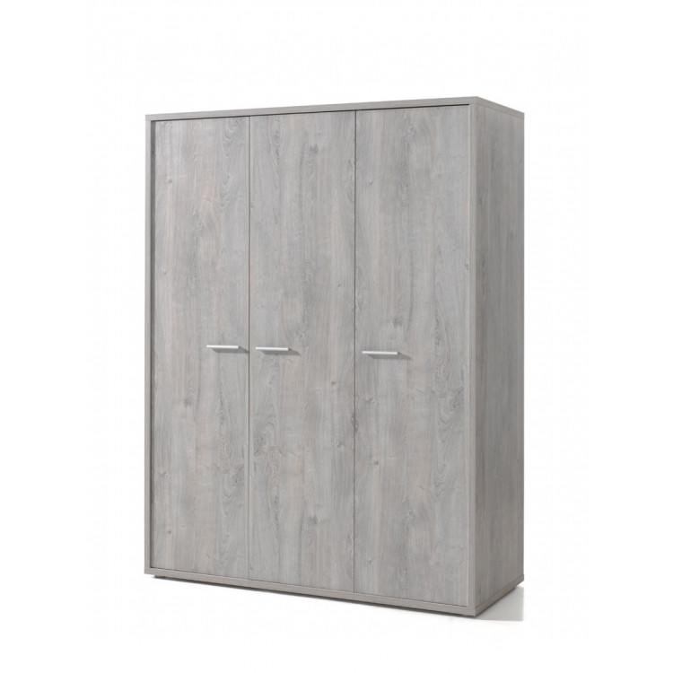 armoire enfant contemporaine 150 cm ch ne gris victoria matelpro. Black Bedroom Furniture Sets. Home Design Ideas