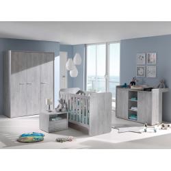 Chambre bébé contemporaine chêne grisé Victoria