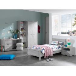 Chambre enfant contemporaine chêne grisé Victoria