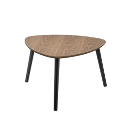 Table basse triangulaire contemporaine en bois chêne cendré Chloe