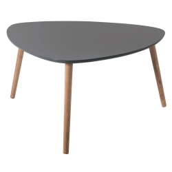 Table basse triangulaire contemporaine grise en bois Chloe