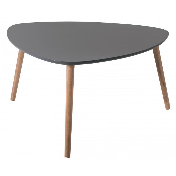 Table Basse Triangulaire Contemporaine Grise En Bois Chloe