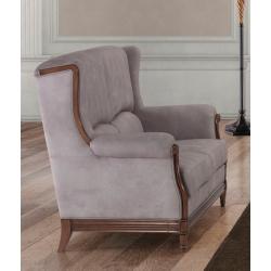 Canapé fixe 2 places contemporain en tissu gris Benjamin